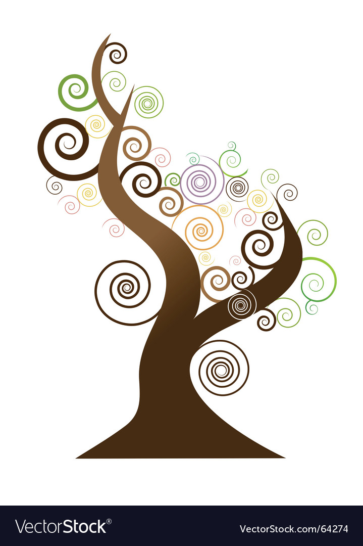 Tree swirl vector | Price: 1 Credit (USD $1)