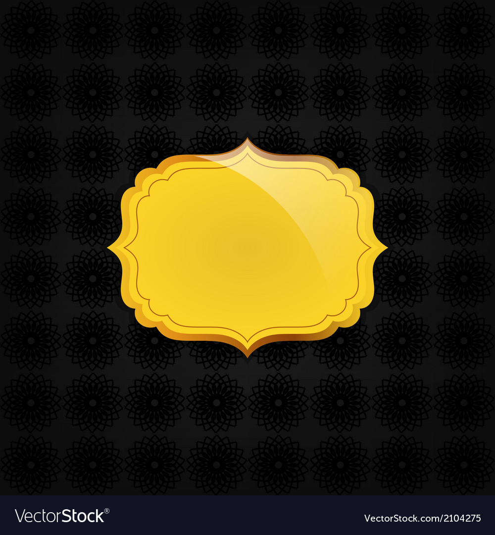 Black abstract texture and golden badge vector | Price: 1 Credit (USD $1)