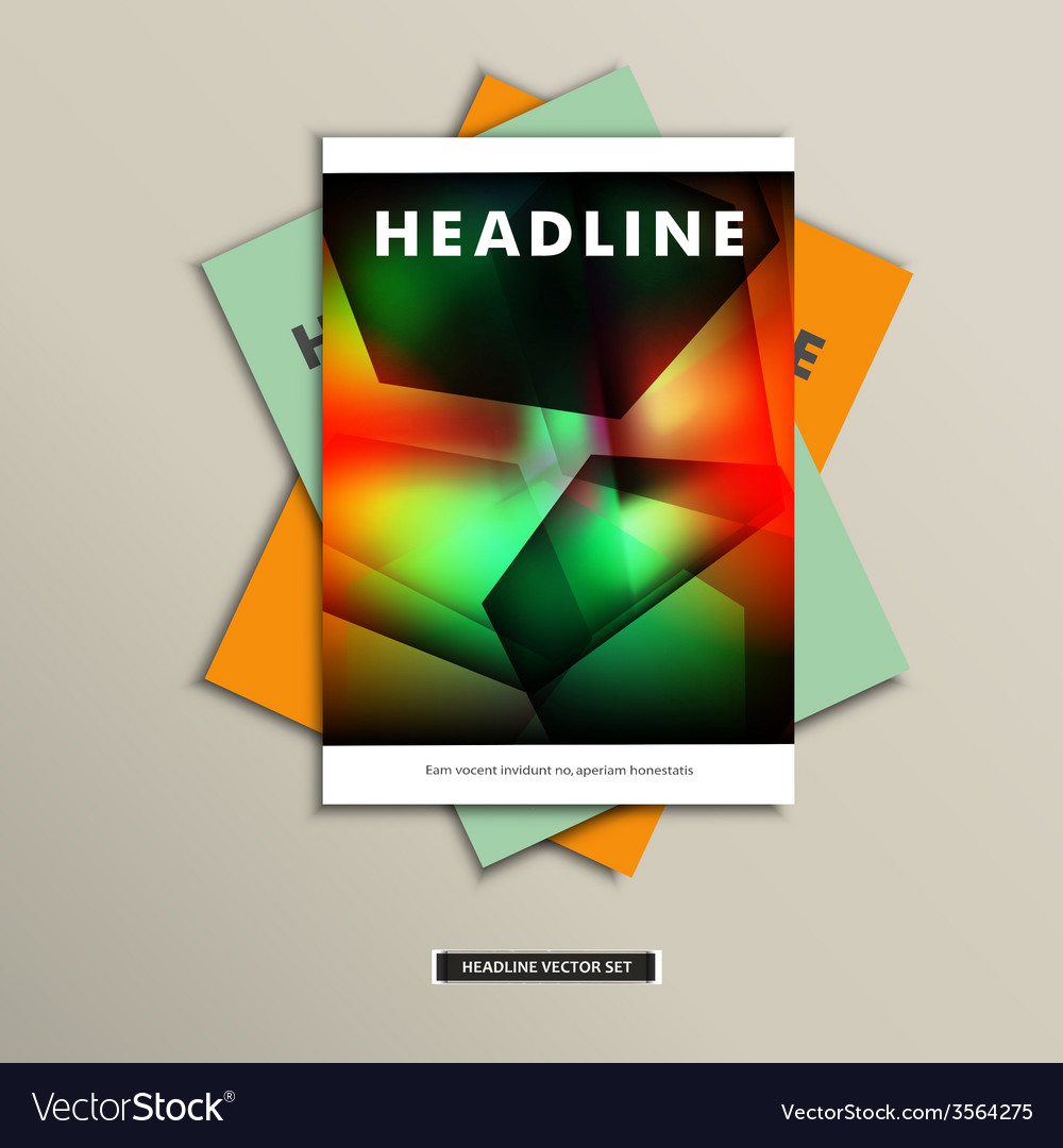 Book cover with abstract geometric shapes eps vector | Price: 1 Credit (USD $1)