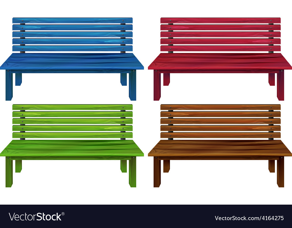 Four colourful chairs vector | Price: 1 Credit (USD $1)