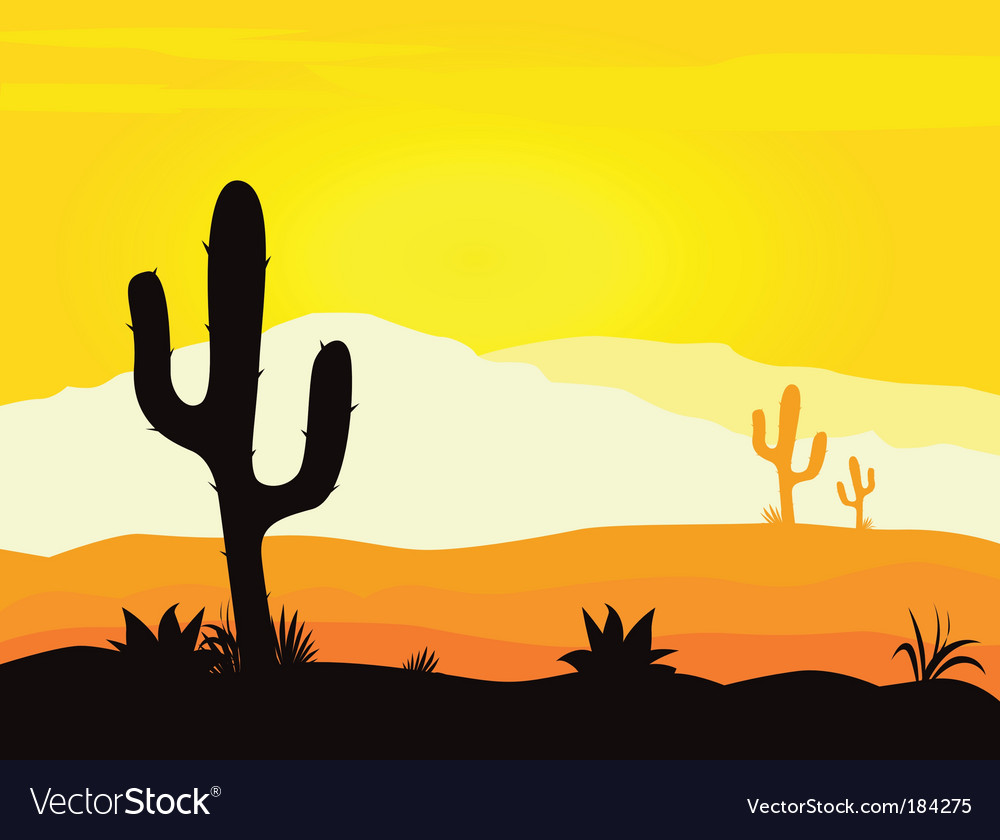 Mexico desert vector | Price: 1 Credit (USD $1)