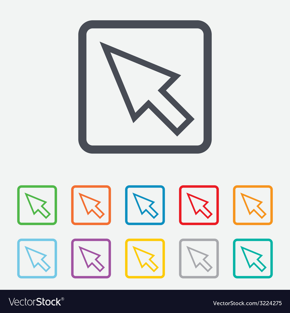 Mouse cursor sign icon pointer symbol vector | Price: 1 Credit (USD $1)