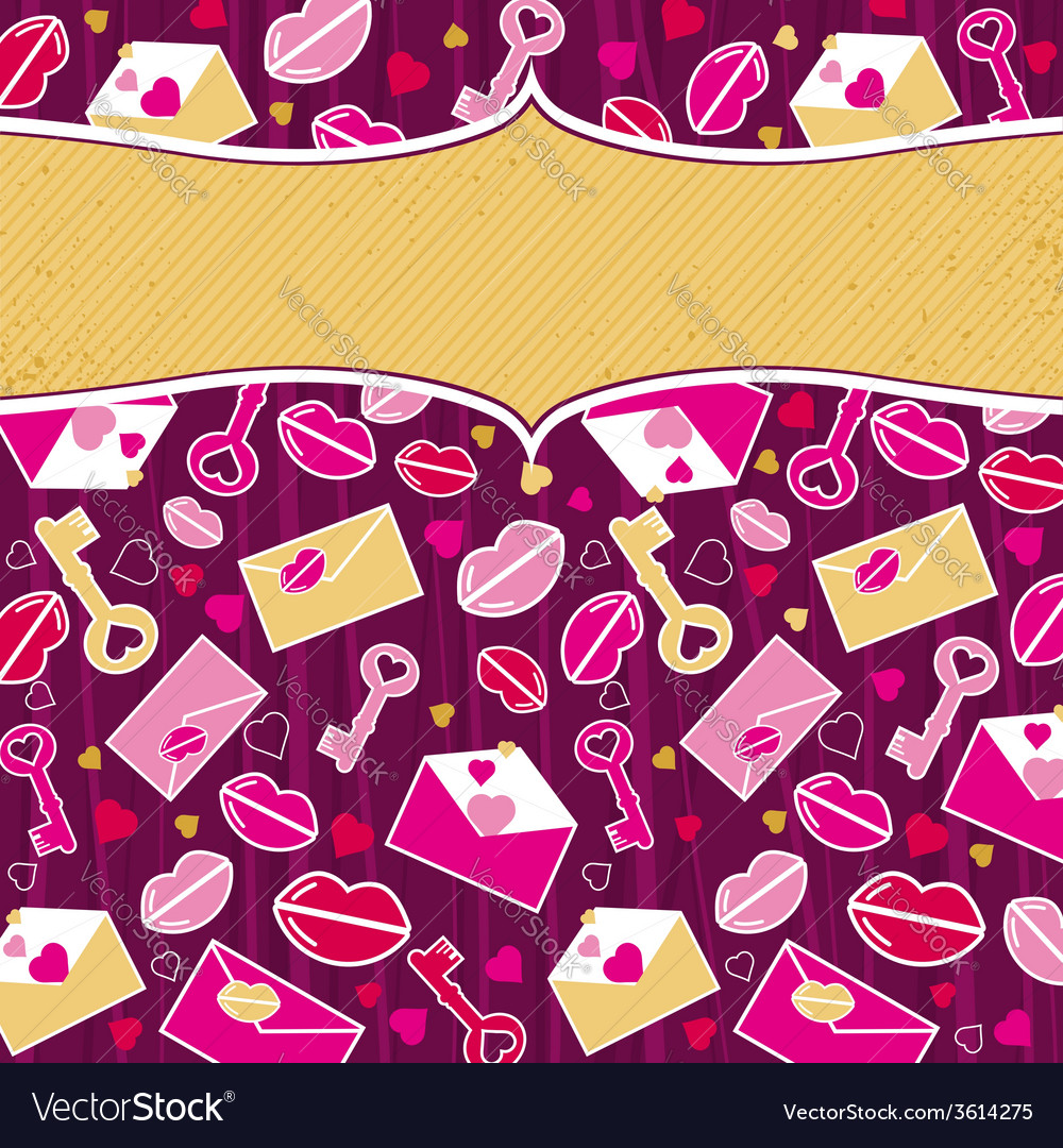 Purple valentine background with pink and red hear vector | Price: 1 Credit (USD $1)
