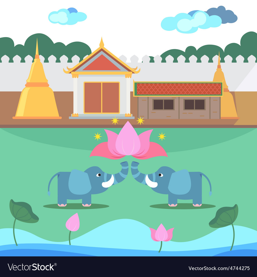 Thai tample vector | Price: 1 Credit (USD $1)