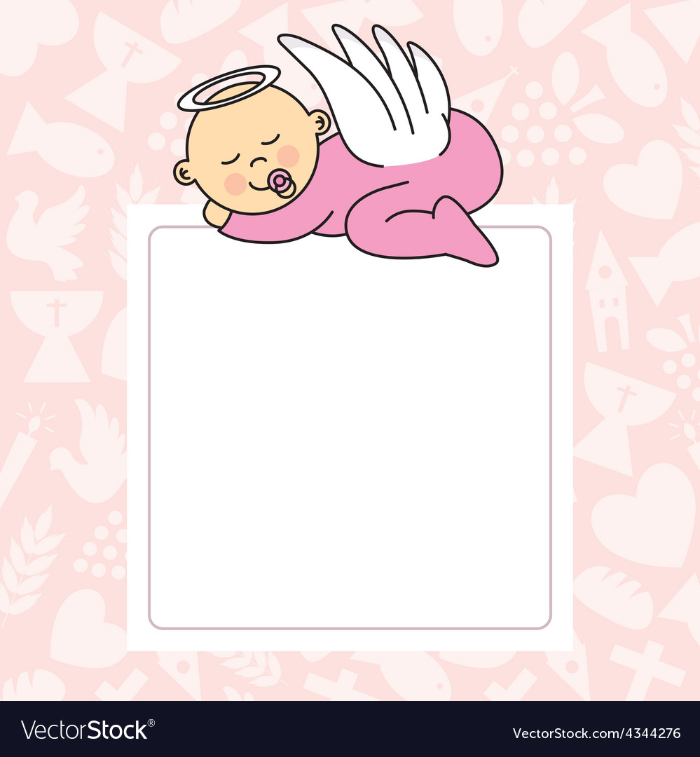 Baby girl sleeping vector | Price: 1 Credit (USD $1)