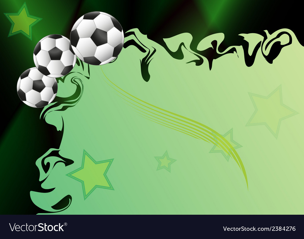 Background with football motif vector | Price: 1 Credit (USD $1)