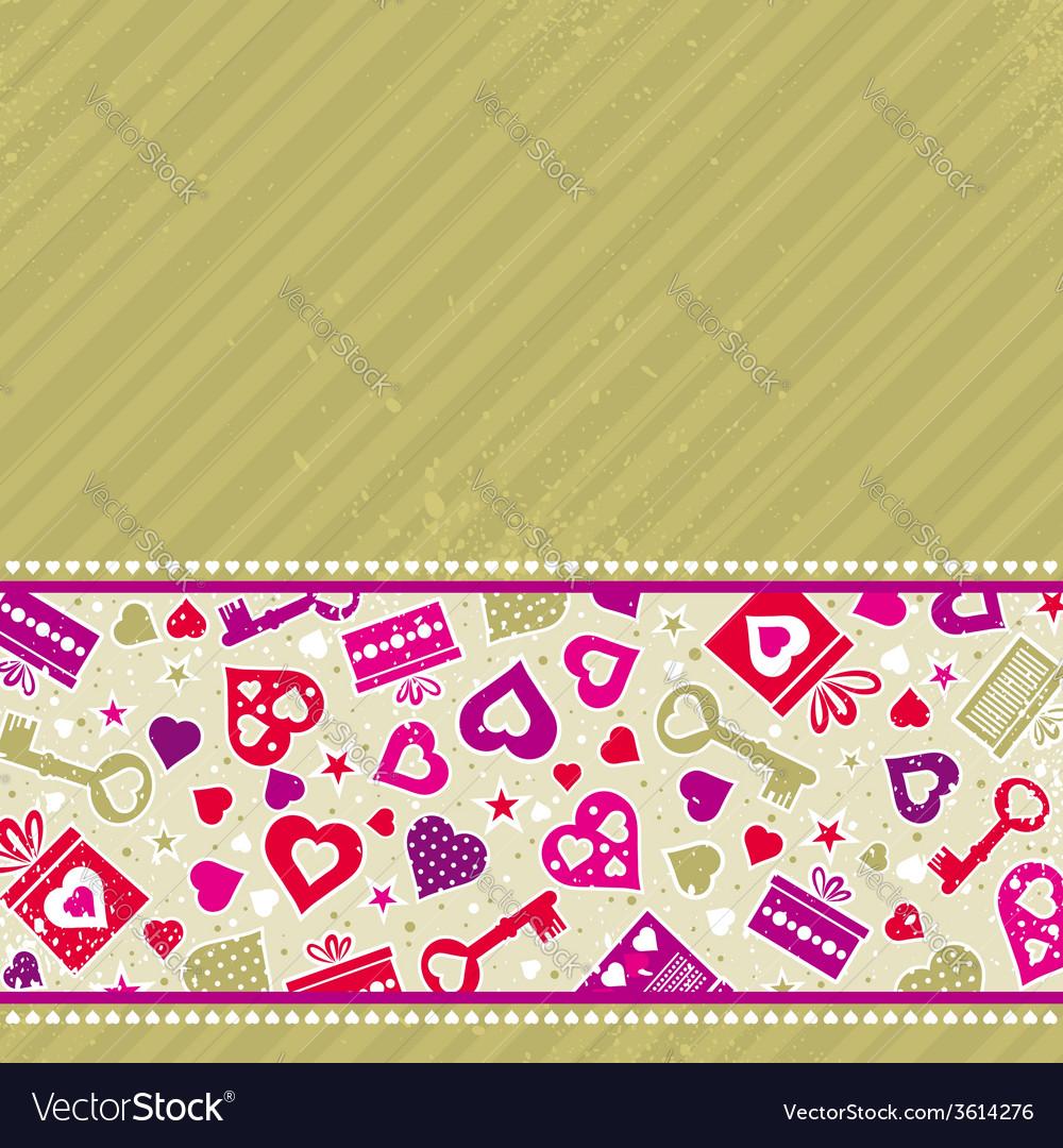 Beige valentine background with pink hearts vector   Price: 1 Credit (USD $1)