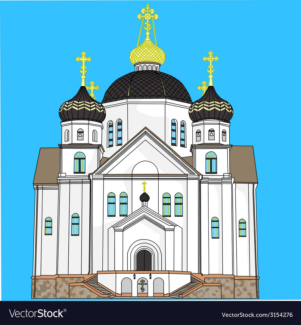 Church in smorgon vector | Price: 1 Credit (USD $1)