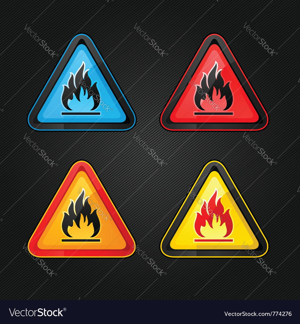 Flammable warning sign vector | Price: 1 Credit (USD $1)