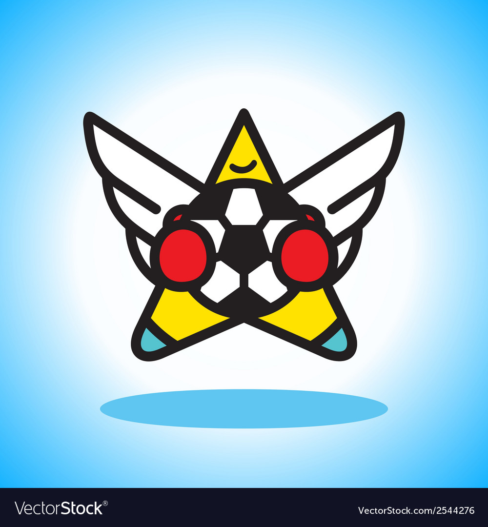 Flying soccer player vector | Price: 1 Credit (USD $1)