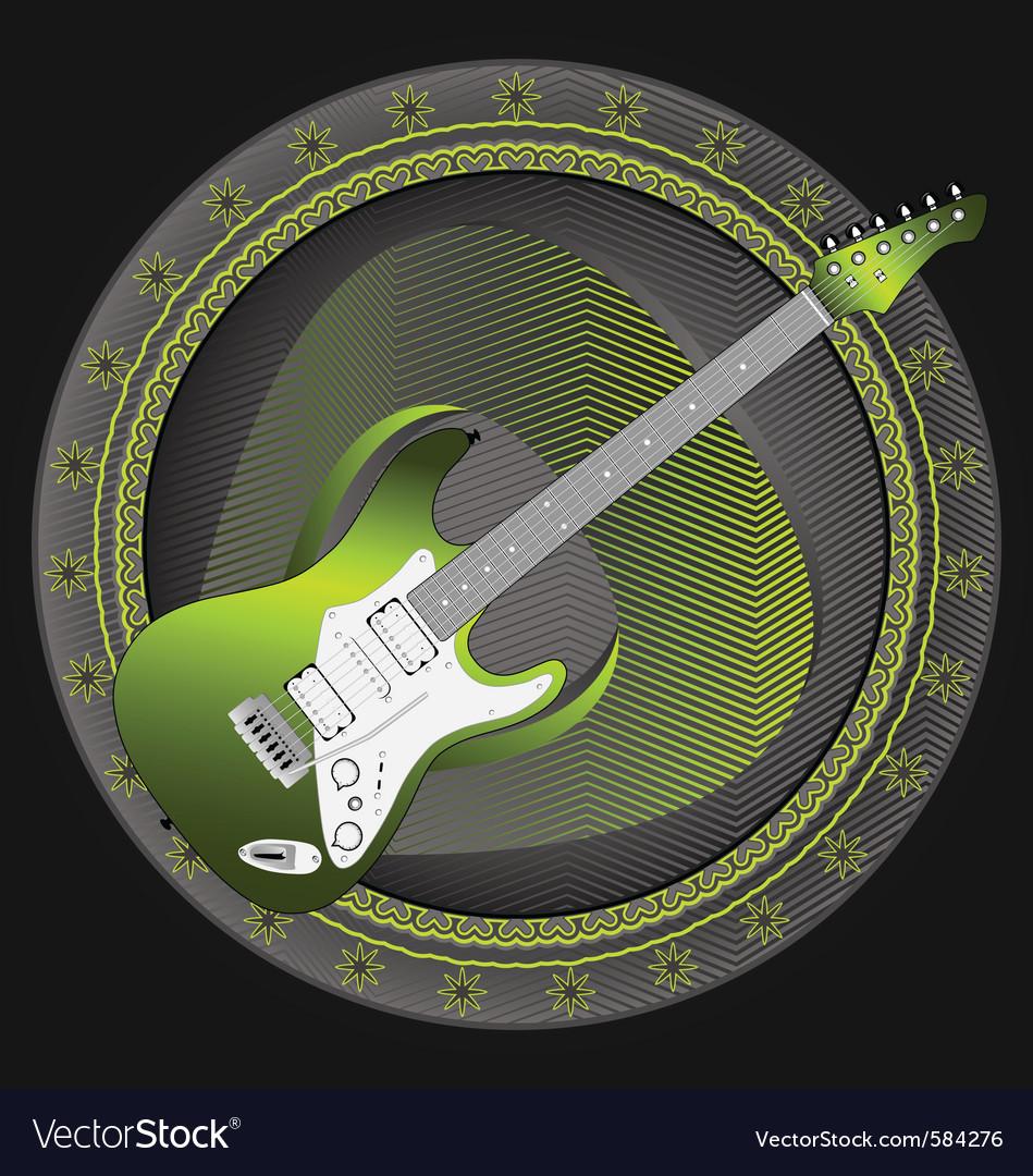 Guitar emblem vector | Price: 1 Credit (USD $1)