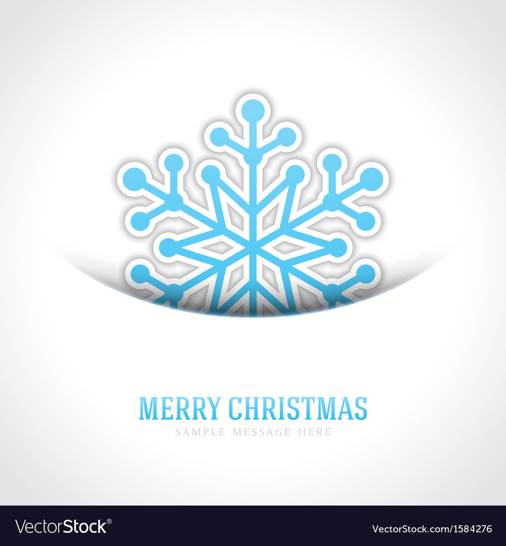 Merry christmas card and snowflake vector   Price: 1 Credit (USD $1)