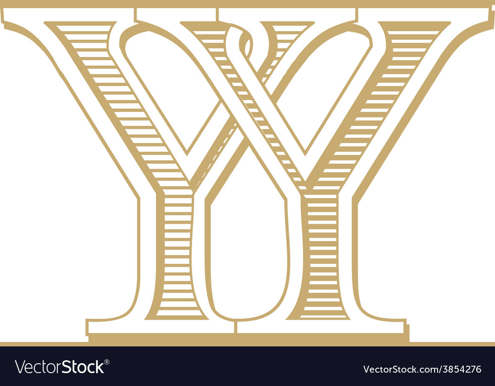 Monogram yy vector | Price: 1 Credit (USD $1)
