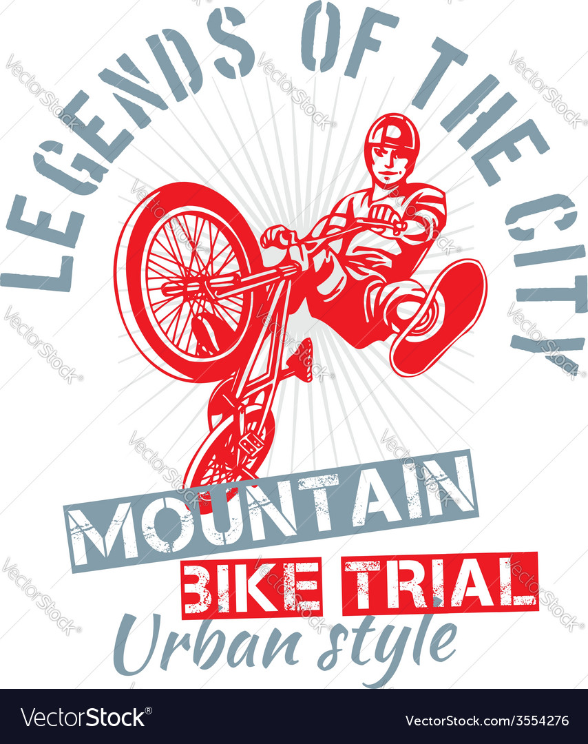 Mountain bike trial - design vector | Price: 1 Credit (USD $1)