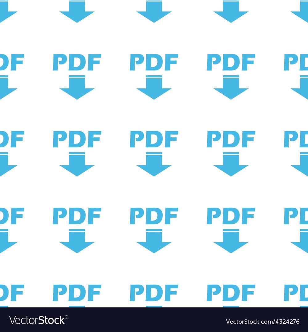 Unique pdf seamless pattern vector | Price: 1 Credit (USD $1)