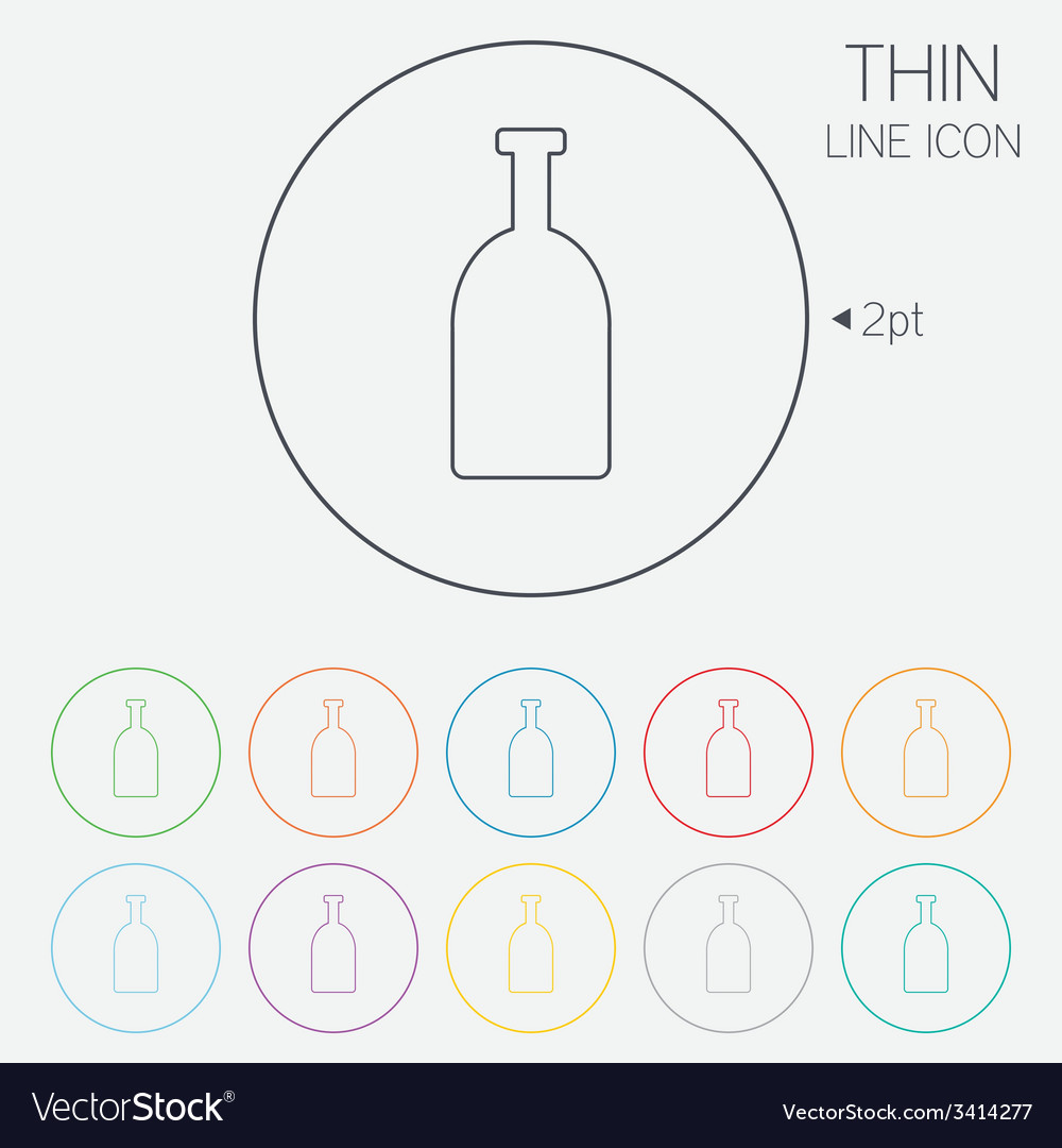 Alcohol sign icon drink symbol bottle vector   Price: 1 Credit (USD $1)