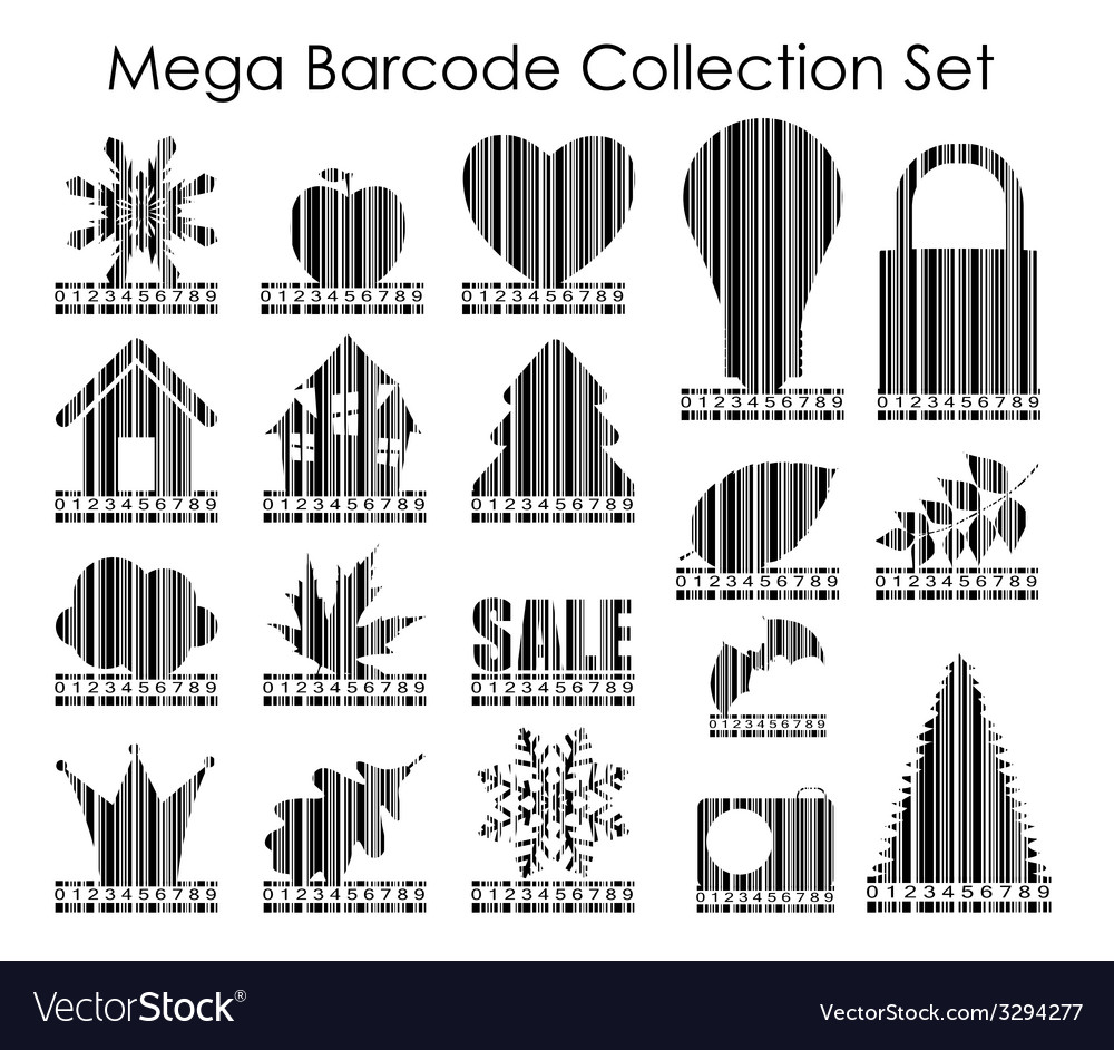 Barcode set image vector | Price: 1 Credit (USD $1)