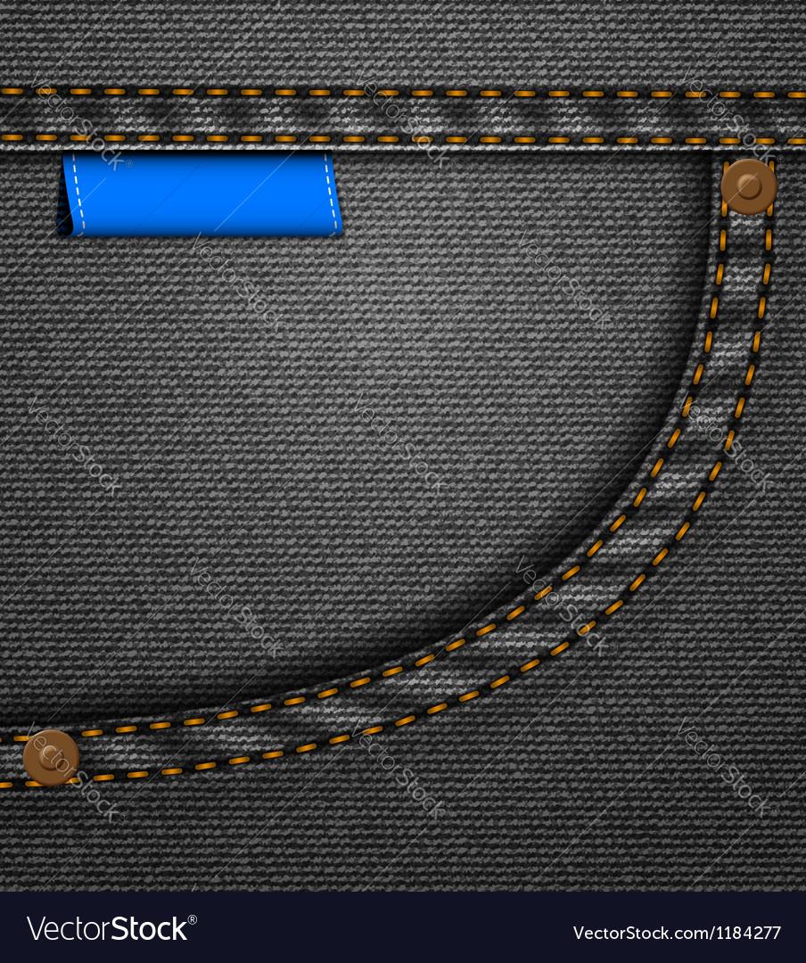 Black jeans pocket vector | Price: 1 Credit (USD $1)