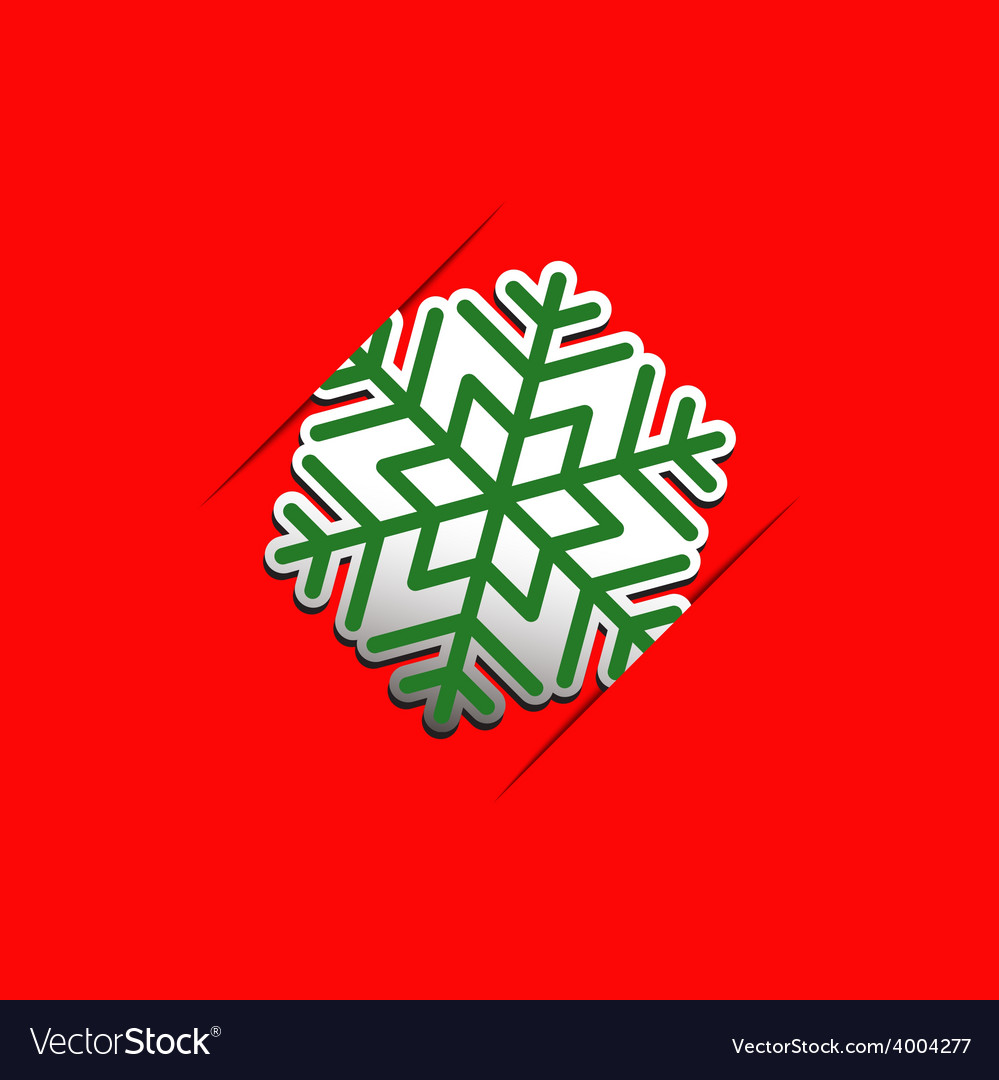 Christmas snowflake applique background vector | Price: 1 Credit (USD $1)