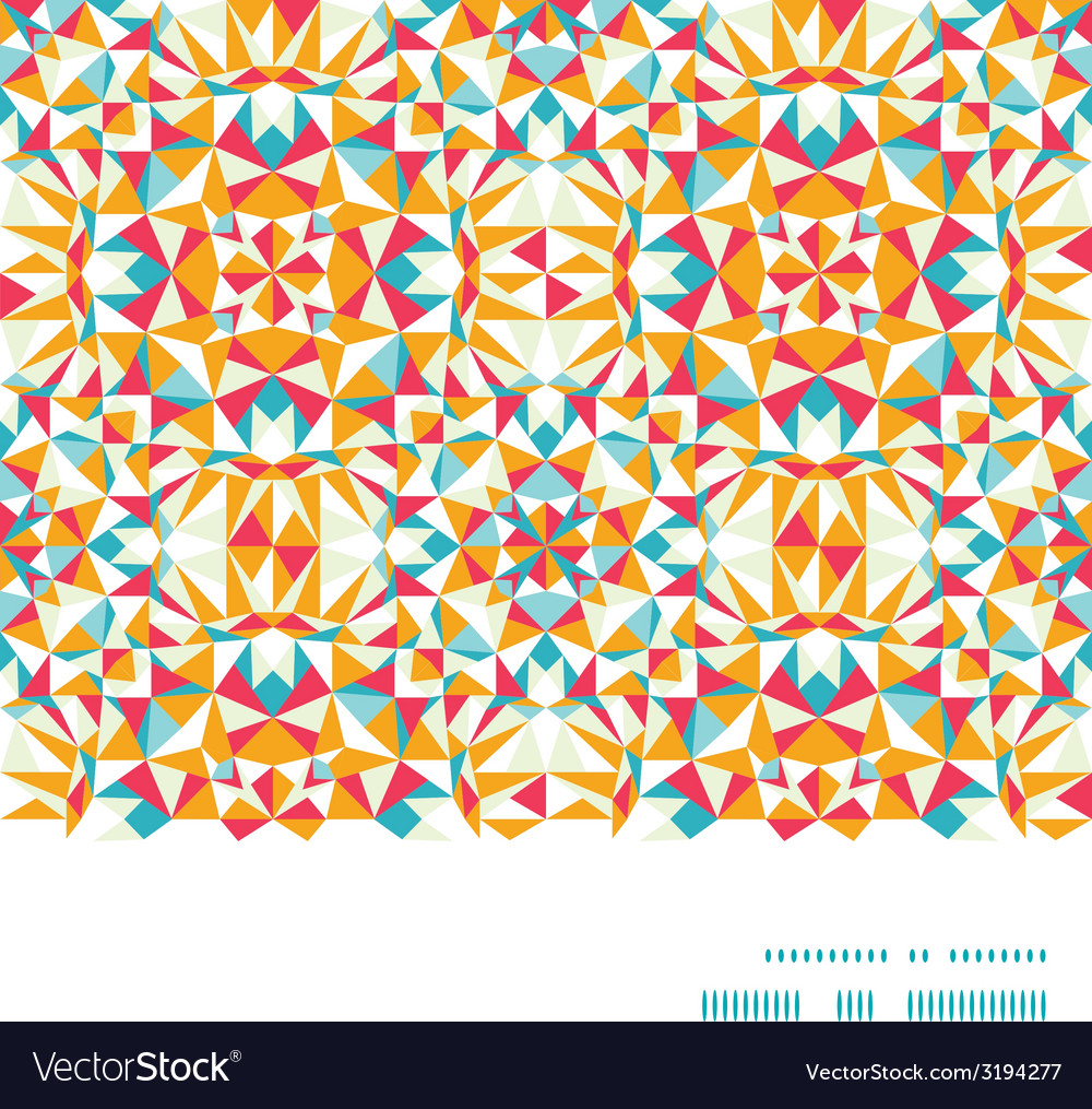Colorful triangle texture horizontal frame vector | Price: 1 Credit (USD $1)