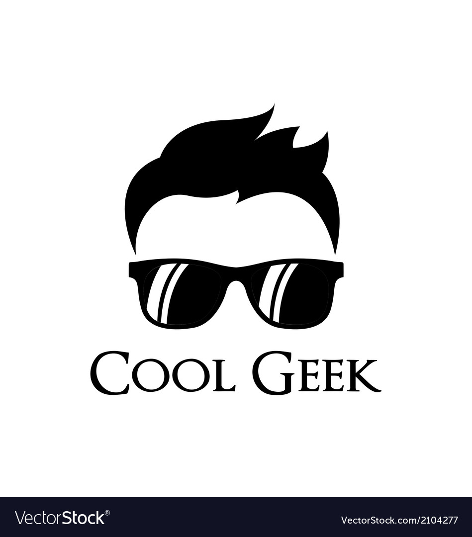Cool geek logo template vector | Price: 1 Credit (USD $1)