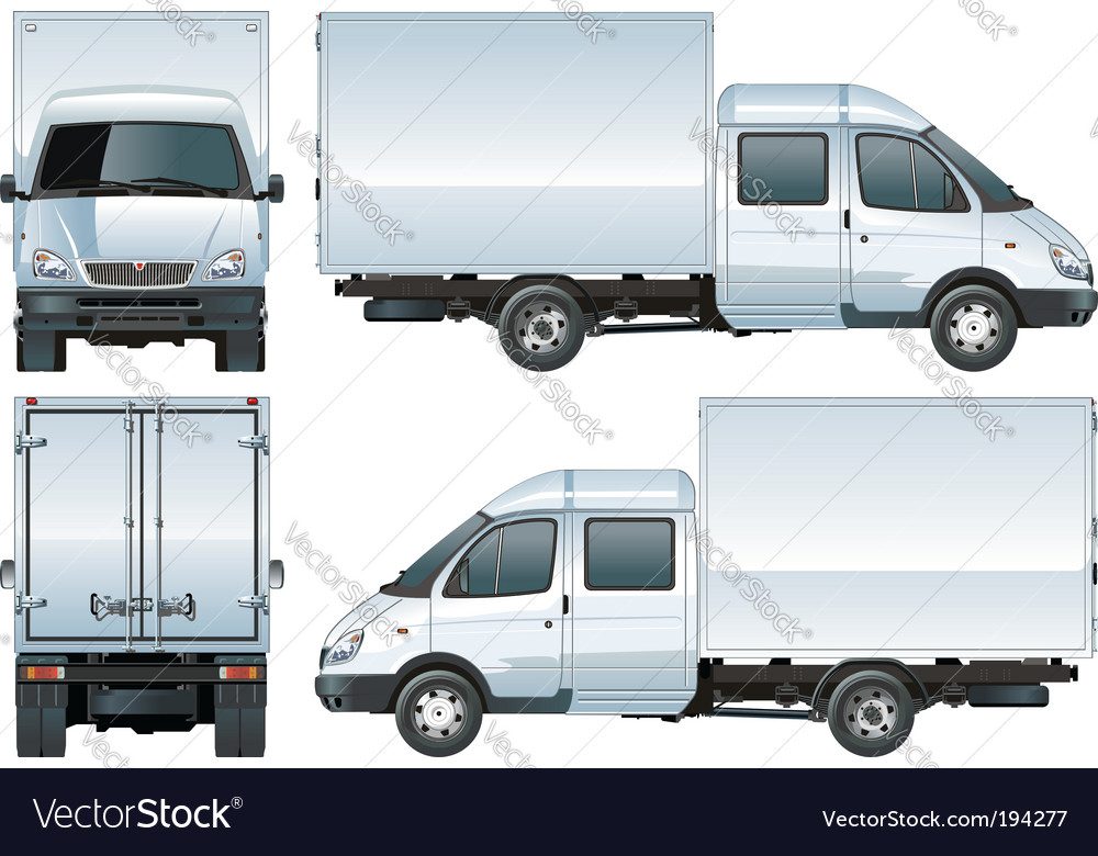 Delivery cargo truck vector   Price: 1 Credit (USD $1)