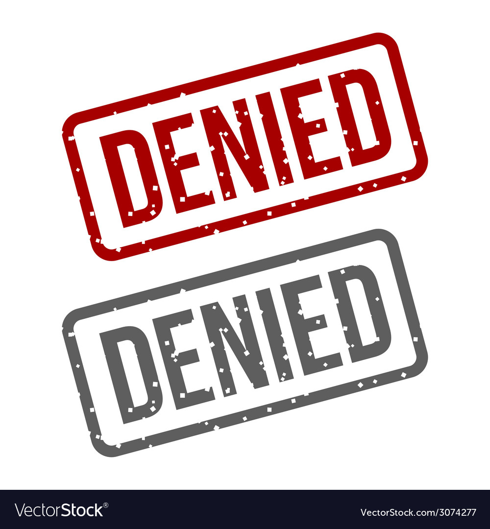 Denied red stamp over a white background vector | Price: 1 Credit (USD $1)