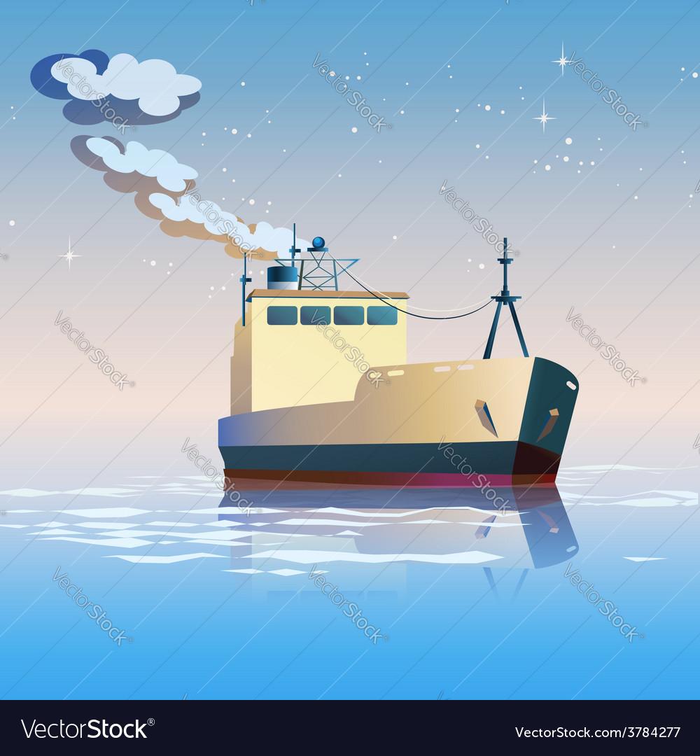 Fishing boat vector | Price: 3 Credit (USD $3)