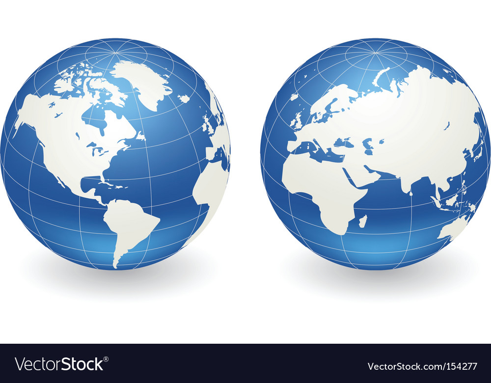 Globes of earth vector | Price: 1 Credit (USD $1)