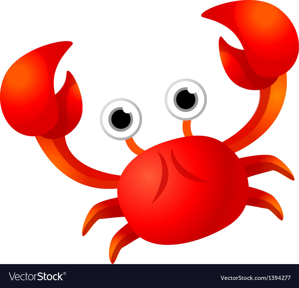 Icon crab vector | Price: 1 Credit (USD $1)