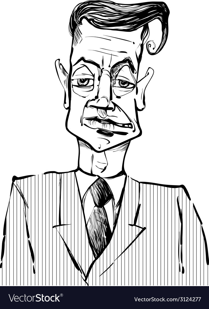 Man in suit drawing vector   Price: 1 Credit (USD $1)