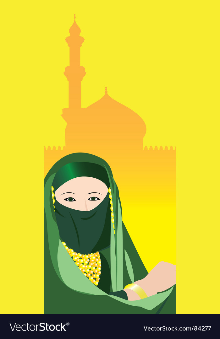 Middle east woman vector | Price: 1 Credit (USD $1)