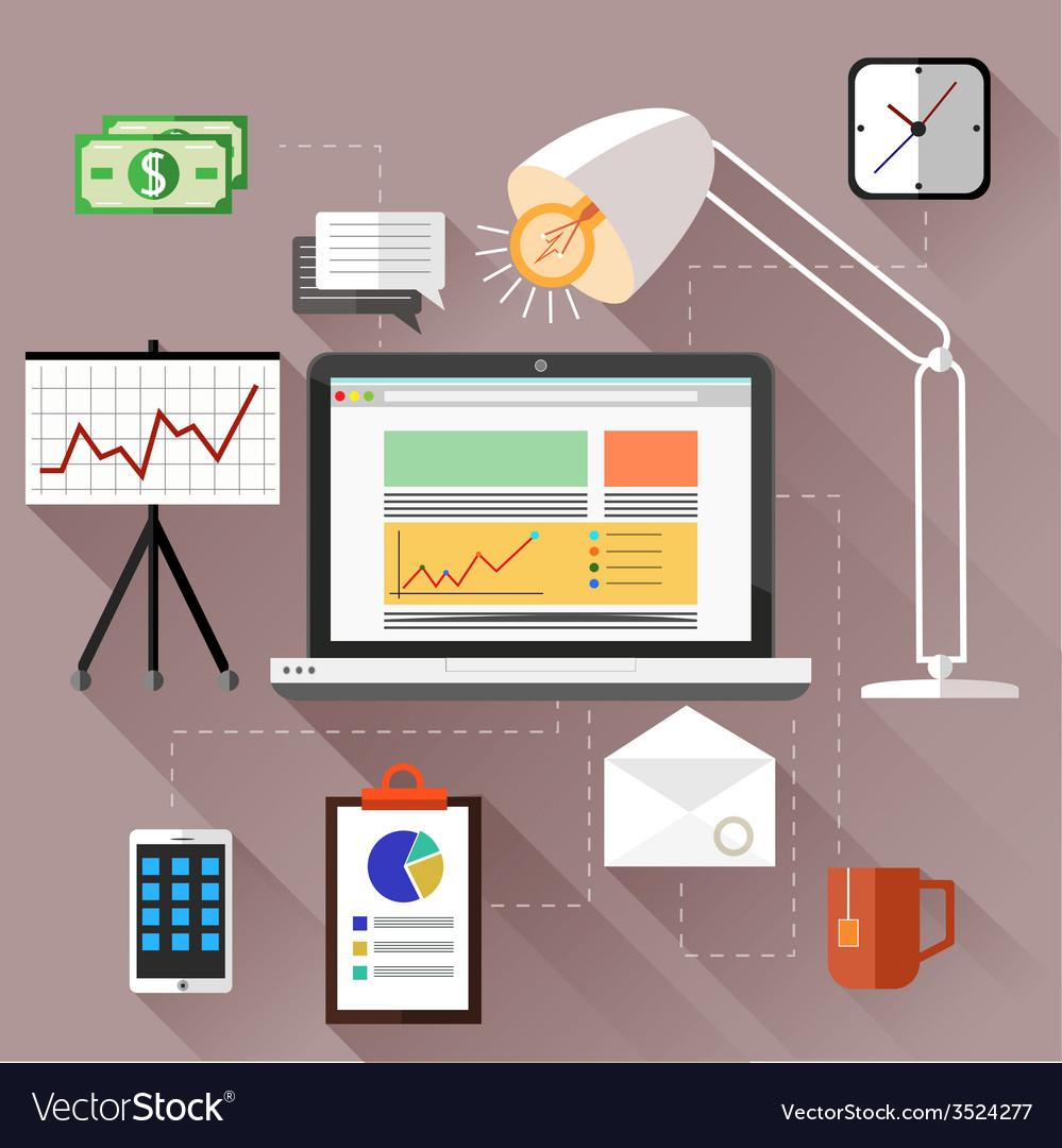 Seo optimization programming process vector | Price: 1 Credit (USD $1)