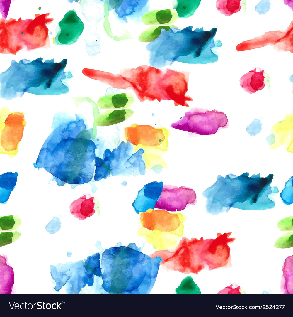 Spray paint watercolor seamless pattern vector | Price: 1 Credit (USD $1)