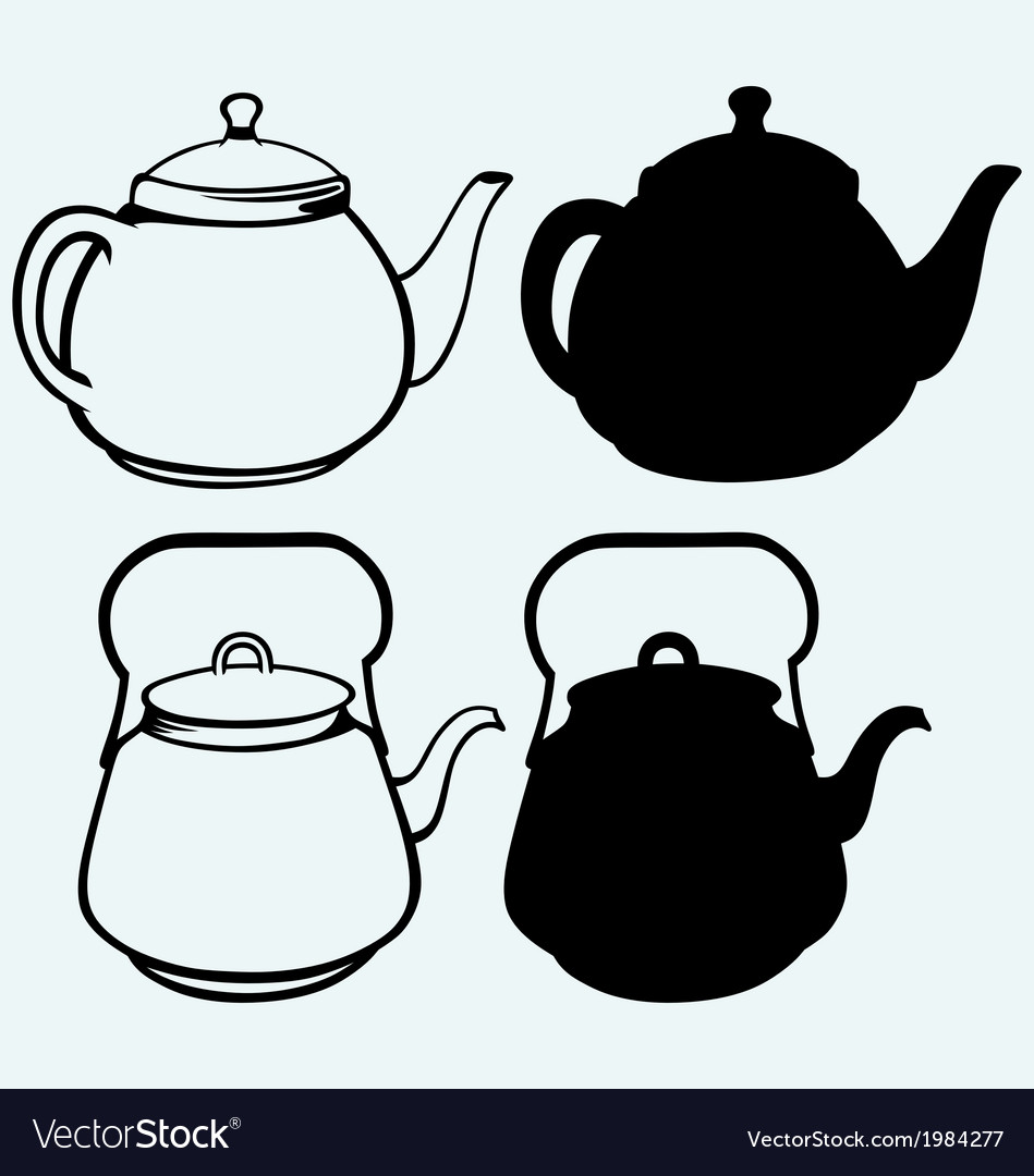 Vintage metal kettle vector | Price: 1 Credit (USD $1)