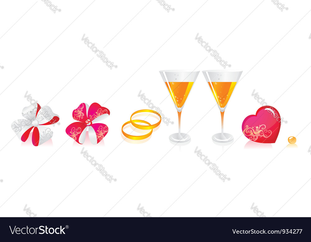 Wedding beverage deco vector | Price: 1 Credit (USD $1)