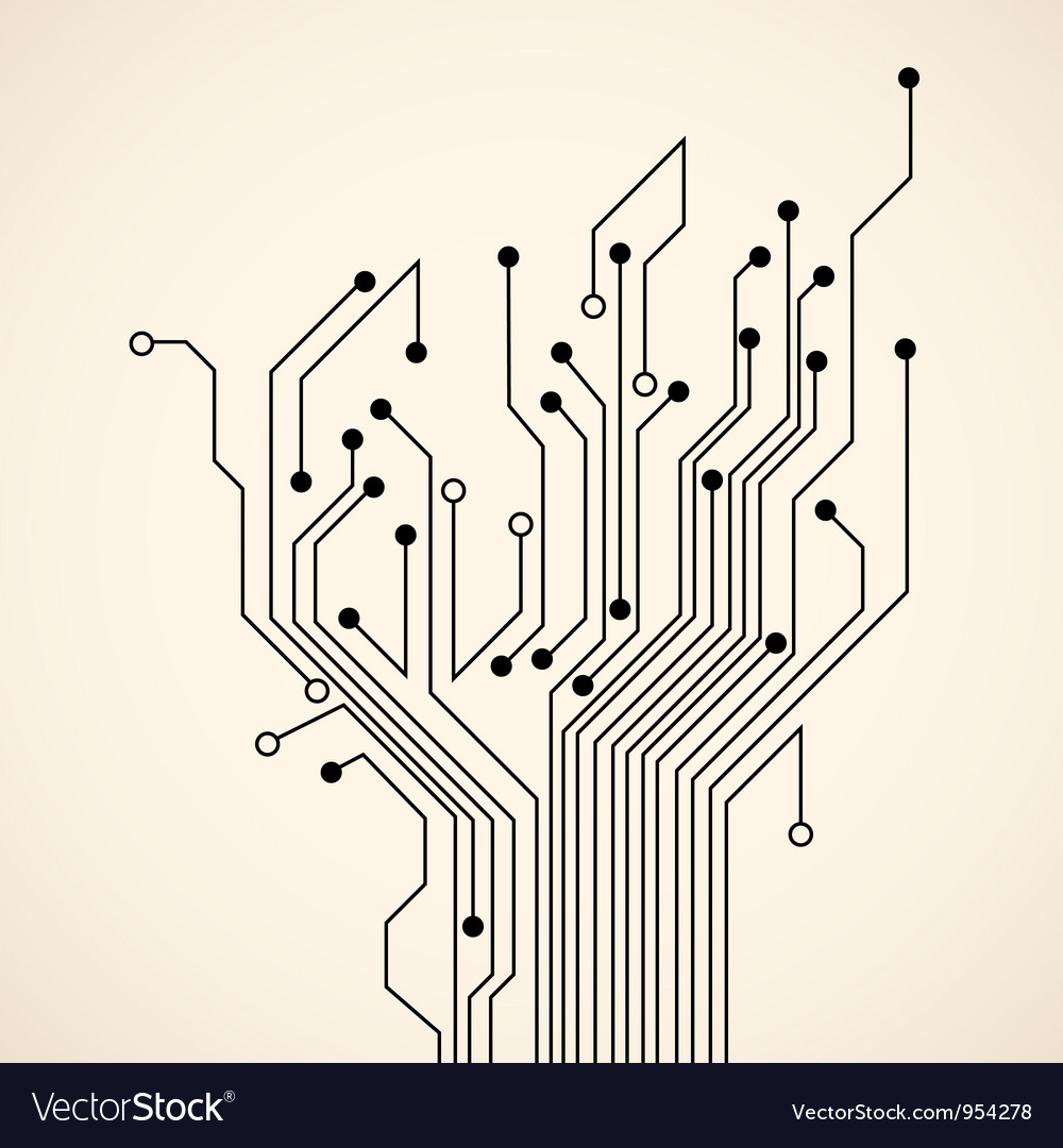 Abstract circuit tree vector | Price: 1 Credit (USD $1)