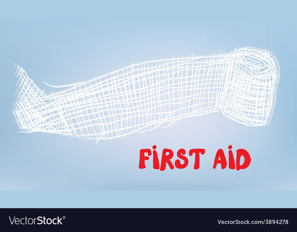First aid bacgkround with bandage vector | Price: 1 Credit (USD $1)