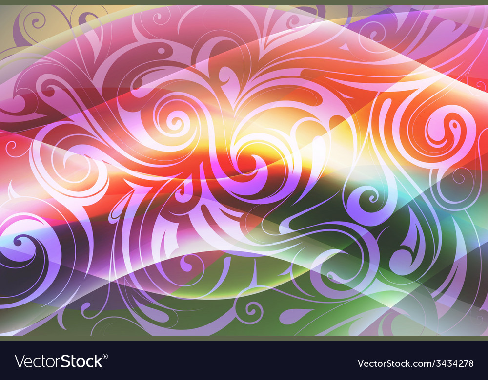 Floral ornament with multilayer vector | Price: 1 Credit (USD $1)