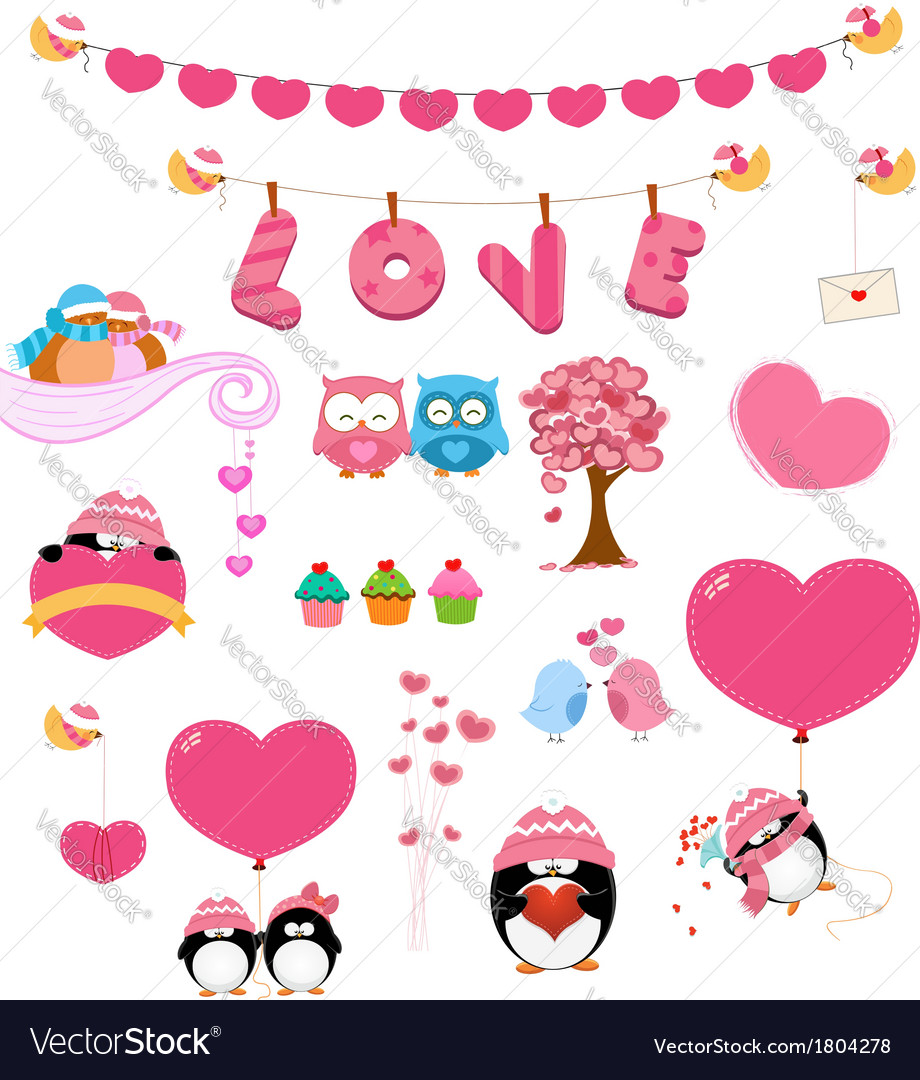 Love set vector | Price: 1 Credit (USD $1)