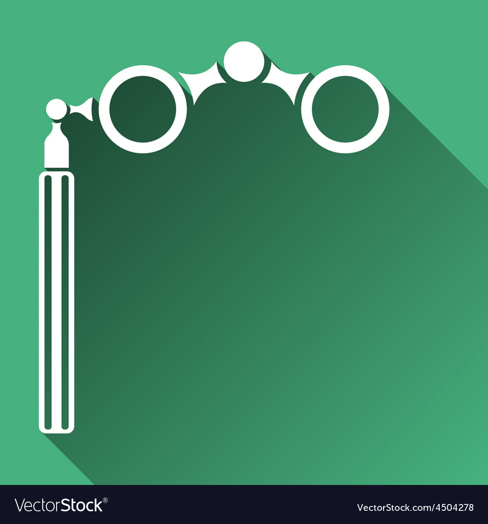 Opera glasses icon vector | Price: 1 Credit (USD $1)