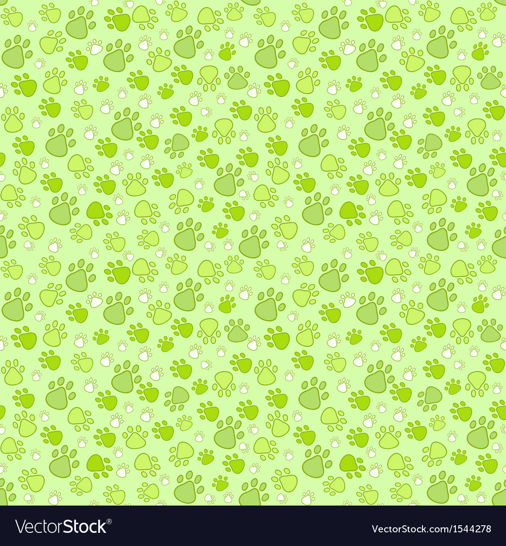 Pet paw imprint seamless pattern vector | Price: 1 Credit (USD $1)