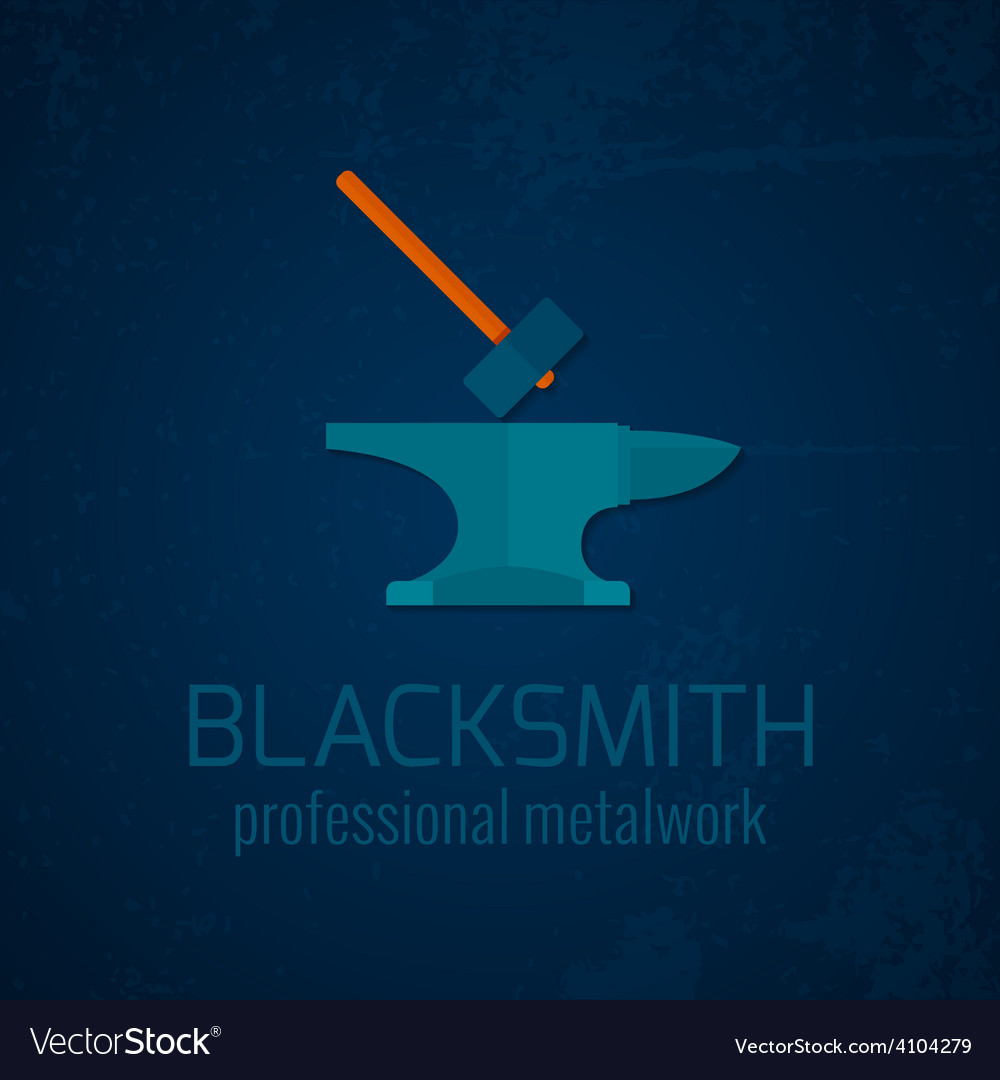 Blacksmith metalwork icon vector | Price: 1 Credit (USD $1)