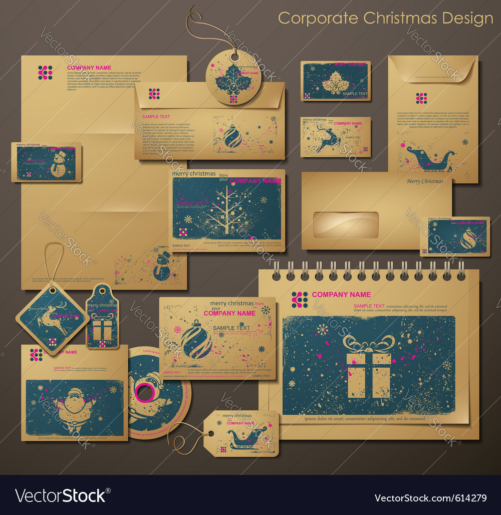 Corporate christmas design vector | Price: 3 Credit (USD $3)