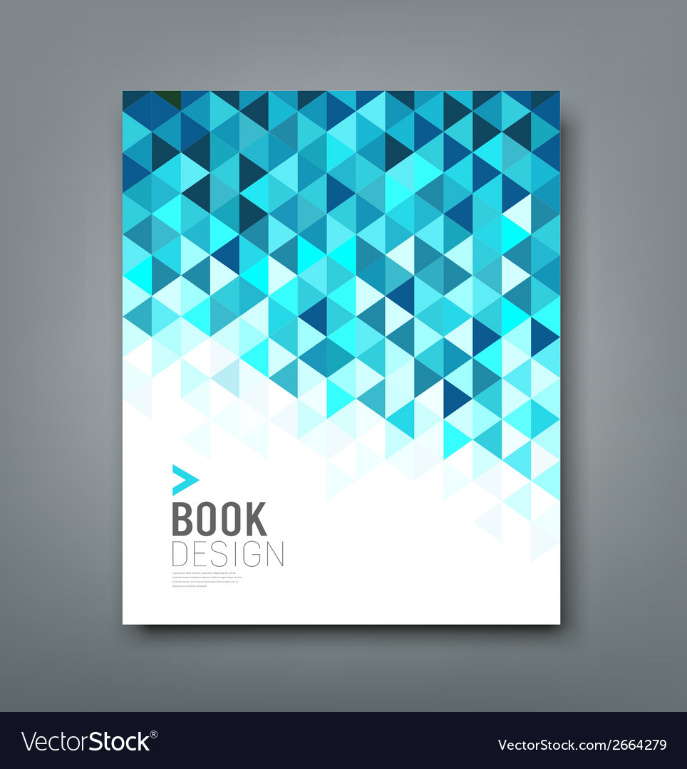 Cover report blue triangle geometric pattern vector | Price: 1 Credit (USD $1)