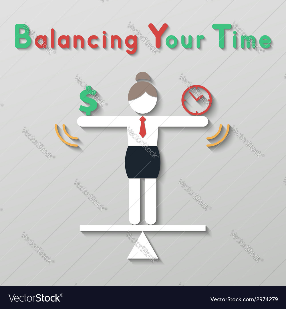 Idea balance your life business concept vector   Price: 1 Credit (USD $1)