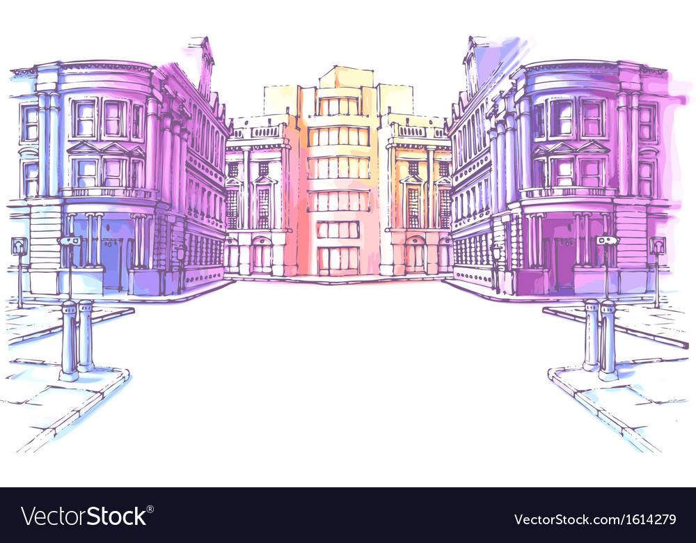 Old city street vector   Price: 3 Credit (USD $3)