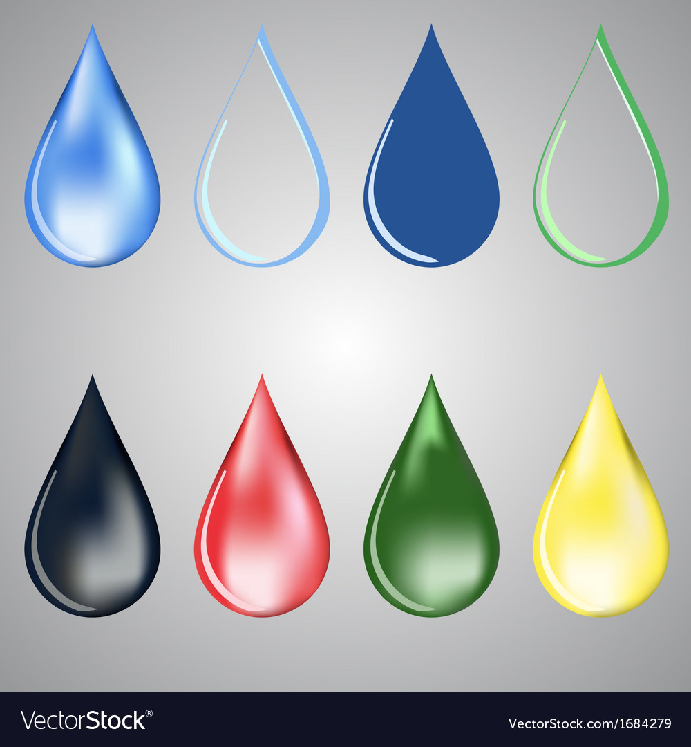 Paint and water drops vector | Price: 1 Credit (USD $1)