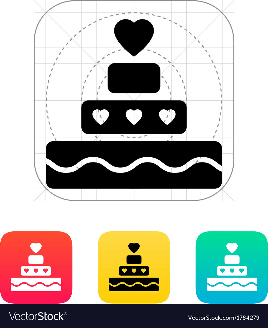 Romantic pie with heart icon vector | Price: 1 Credit (USD $1)