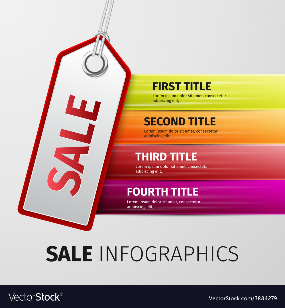Sale infographics vector | Price: 1 Credit (USD $1)